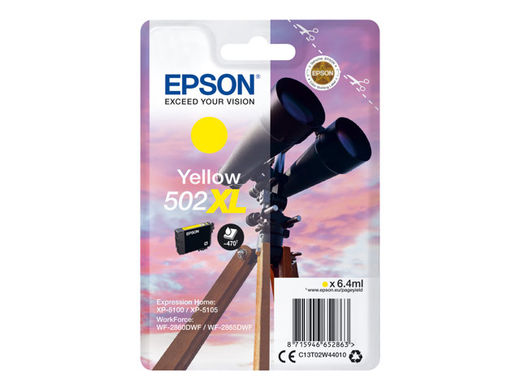 Mustekasetti - Epson T502 XL - Yellow